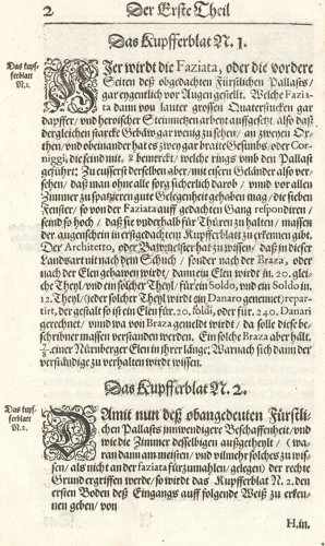 J. Furttenbach, Architectura civilis, Ulm 1628