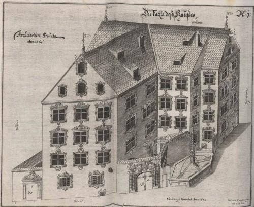 J. Furttenbach, Architectura privata, Augsburg 1641 (la masion privée de l'auteur à Ulm, Sterngasse 1)